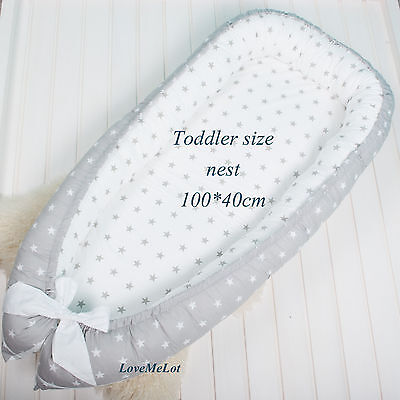 Toddler size babynest with Removable cover, co sleeper, crib, cot, snuggle nest