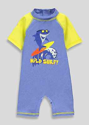 Baby Boys UV Swimsuit Sun Protection UV40+ Sunsafe Surfsuit All in One NEW BNWT