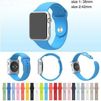Replacement Silicone Wrist Bracelet Sport Band Strap For Apple Watch 38mm/42m*