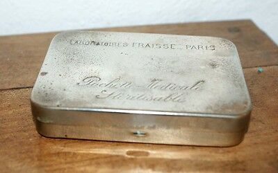 Antique French Paris Engraved Metal Medical Pill Box c1930 Nurse Doctors Gift 3