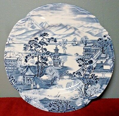 "Vintage JOHNSON BROS. Blue and White ""Enchanted Garden"" BREAD and BUTTER Plate"