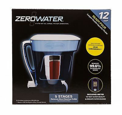 ZeroWater 12-Cup Ready Pour Pitcher Blue