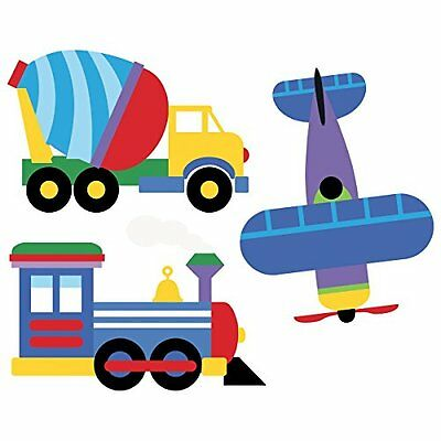 Wallies Wall Decals Olive Kids Trains Planes Trucks Stickers New