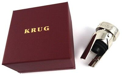 Krug Fine Champagne Vine Motif Pewter Silver Metal Bottle Stopper New In Box