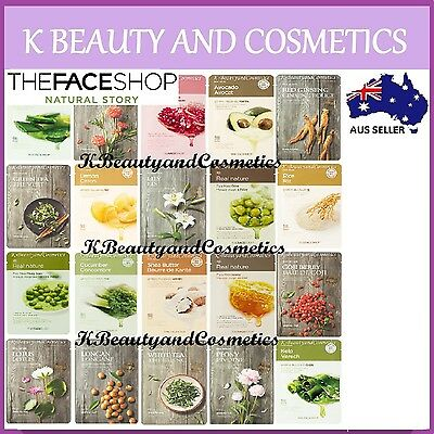 5 pieces x [The Face Shop] Real Nature Mask Sheet SET *20 types*