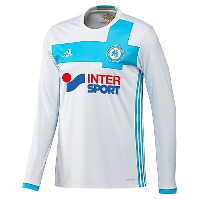 Adult XL LS Olympique de Marseille Home Shirt 2016/17 with Lique 1 Badge MA1