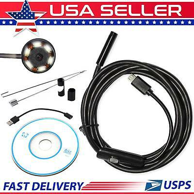 5.5mm 6LED Waterproof Android Endoscope Borescope Snake Inspection Camera Scope