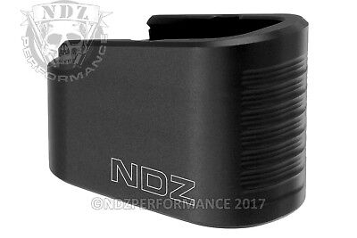 NDZ for Glock 43 9MM Mag Extension Plus 2 With Spring Kit Lasered Images Black