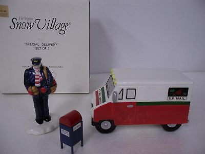 "Department 56 The Original Snow Village ""Special Delivery Set of 2"""