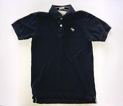 Abercrombie for kids dark blue polo muscle shirt size medium
