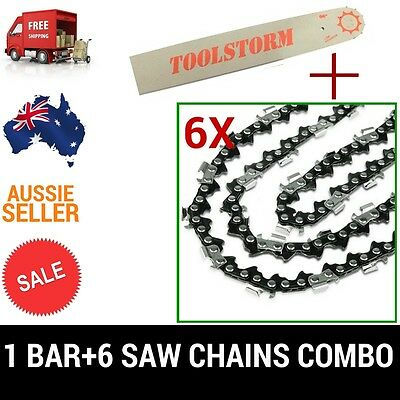 NEW22'' BAR AND 6 CHAINS FOR Baumr-Ag SX75 75CC CHAINSAW .325 058 86DL