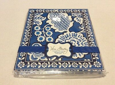 """Vera Bradley 200 forget-me-nots sticky notes """"BLUE LAGOON""""  NEW WITH TAGS"""