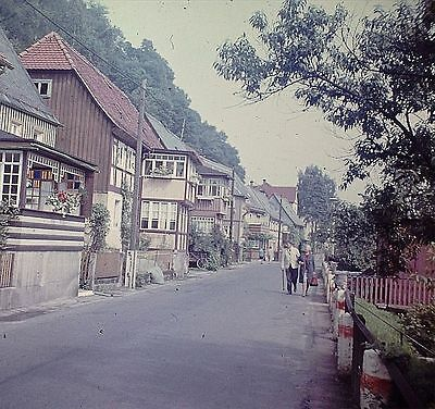 OSTRAU, altes Foto - DIA SLIDE - Photo, Bad Schandau, Straße (8)