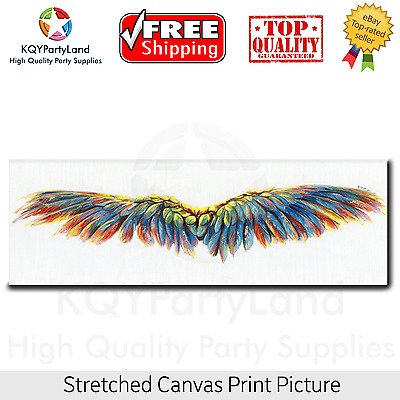 Stretched Canvas Print *Colorful Wings* Painting Wall Art Home Decor Gift NEW