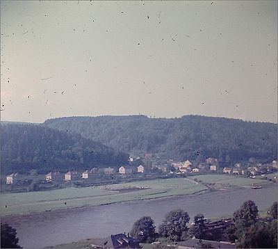 Ostrau Bad Schandau Panorama 1970 Foto als Dia positive slides diapositives (8)