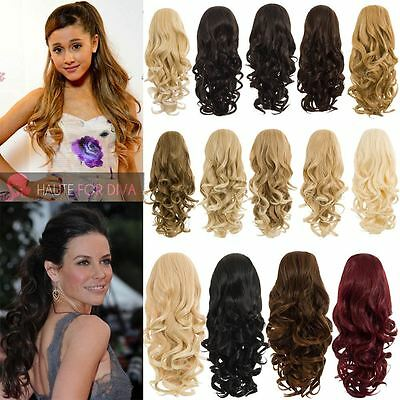 Ladies Heat Resistant High Quality Synthetic Hair Curly Reversible Ponytail