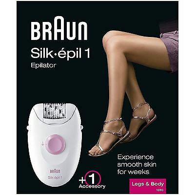 Braun Silk-épil 1 1370 Women's Legs & Body Epilator Corded Power Tweezer Shaver