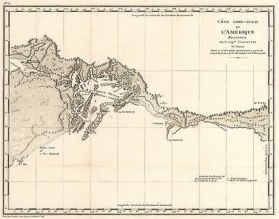 1799 Map of the Coast of the Prince William Sound