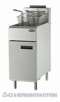 Atosa 40Lb Commercial Gas / Propane Full Pot Deep Fryer Atfs-40