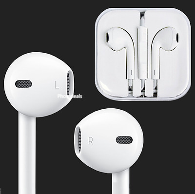 New Headset Earpods w Mic / Remote Earphones for Apple iPhone Earbuds Headphones