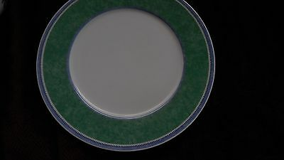 """**3** Villeroy Boch Switch 3 Dinner Plates 10 1/2"""" COSTA White Blue Green Band"""