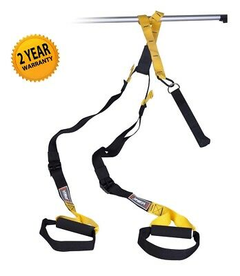 Suspension Trainer Resistance Straps - Gym Quality Body Weight Strength Training