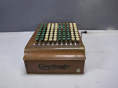 Antique Felt & Terrant Comptometer Adding Machine Mechanical Calculator Model J