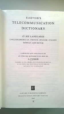 Elsevier's Telecommunication Dictionary plus Supplement in six languages