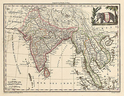1805 Map of India & East India