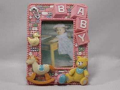 Baby girl picture frame - Pink