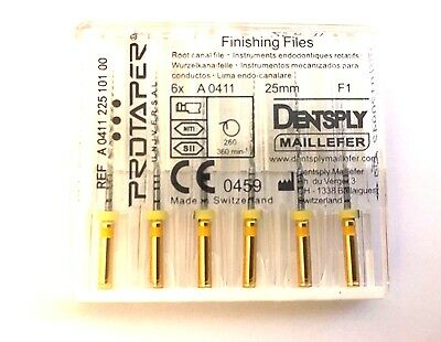 Dental Dentsply Rotary ProTaper Universal Engine NiTi Files 25 mm F1.