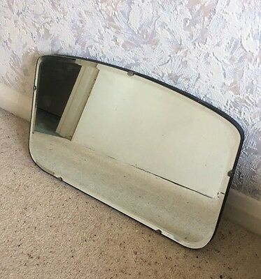 Vintage Bevelled Edge Wall Mirror Thick Backing with Hanging Chains Retro Decor