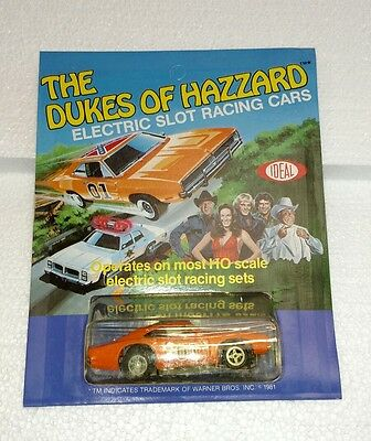 The Dukes Of Hazzard Electric Slit Racing Car Ideal 1981 4661-5 With Flag