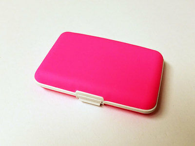 Pink Silicone Credit Card ID Cash Holder Wallet