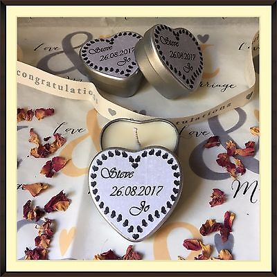 Personalised Scented Soy Candle Wedding Favours (10) – Multi Offer Available!