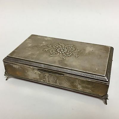 Sterling Silver Footed Jewelry Box
