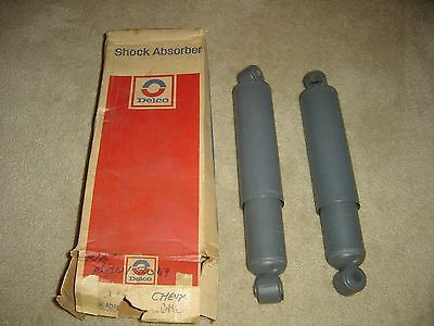 1963-1972 Chevrolet GMC Truck NOS GM Rear Heavy Duty Shock Absorbers Dated Pair