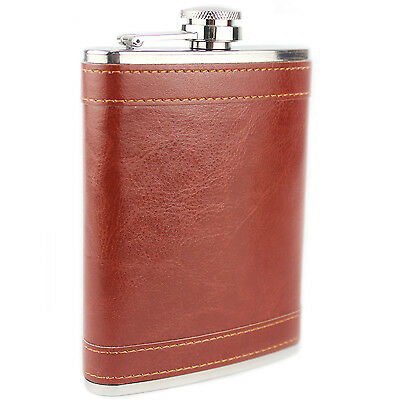 8oz Hip Flask Stainless Steel Rust Leather Design Hip Flask Excellent Quality