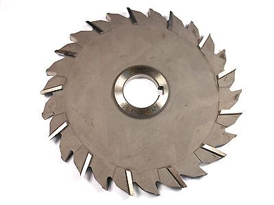 """DOLFA Staggered Tooth Side Milling Cutter 7"""" x 3/8"""" x 1-1/4"""" Arbor 26T -9237E321"""