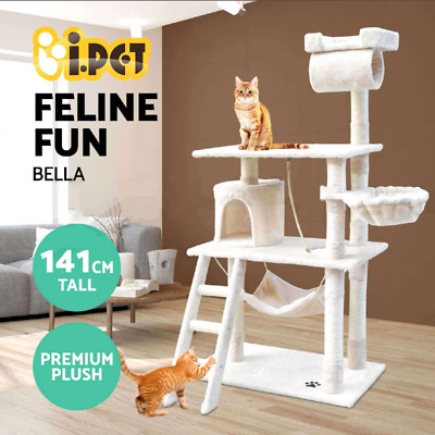 Cat Scratching Post Tree Scratcher Pole Furniture Gym Condo House Toy 141cm