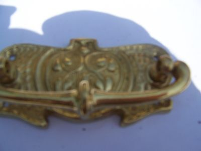 4 pairs of solid brass chest of drawer handles art nouveau