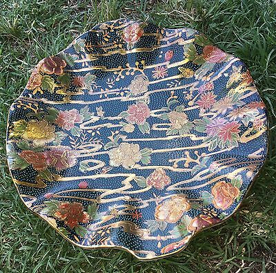 Vintage Dish Plate Bowl Hand Painted Floral Design Made In China