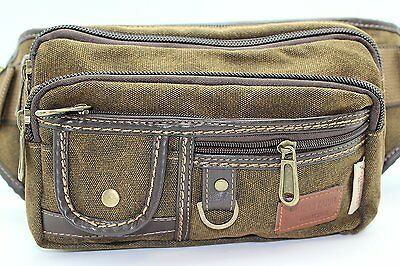 JTC-1106-KFP-M Brown Heavy Duty Canvas Fanny Pack