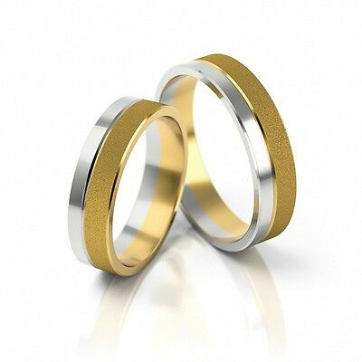 1 Pair Wedding rings Gold 585/333 Bicolour Widths to choose 3 10mm TOP