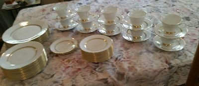 57 Lenox Oxford Bone China Andover Dinner Plates Cups Saucers Salad Bread
