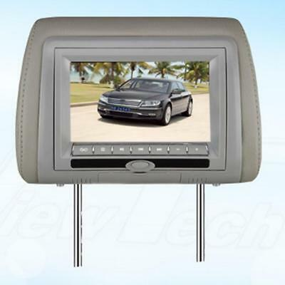 "7 ""LCD 12V Carrestri Lettore DVD Radio TV Monitor Game + Cuffia Grigio"