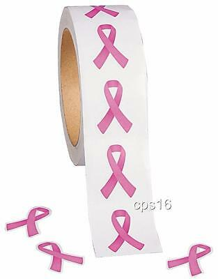 24 Pink Ribbon Stickers   Breast Cancer Awareness   Craft Decoration