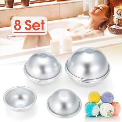 16pcs 8 Set 4 size DIY Mold Sphere Bath Bomb Fizzy Crafting Cake Candle Mould AU