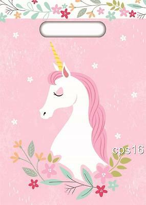 Unicorn Party Treat Bags...10 PACK... Loot Bags...Lolly Bags