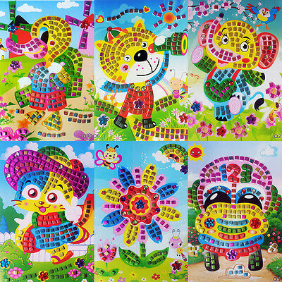 NEW 3D Crystal Mosaics Puzzle Paste Painting Sticker DIY Kid Handmade Craft Toy